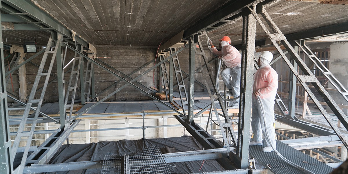 עבודות מיגון אש בפרויקט שיפוץ מבנה תאטרון בית ליסין